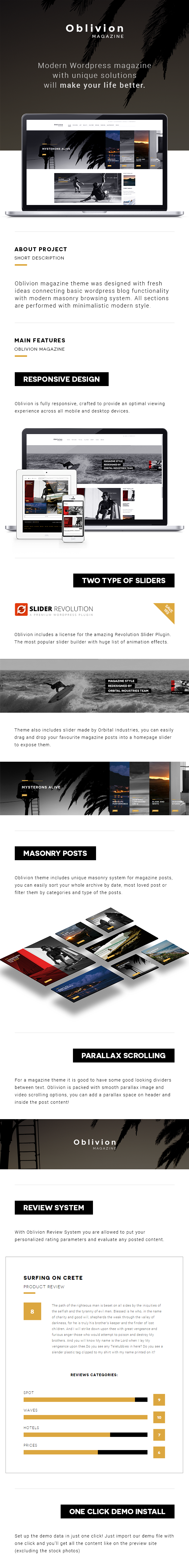 Oblivion - WordPress Magazine Theme